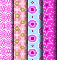 cute pink pattern vector image vector image