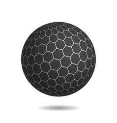 Dark magic sphere with surface of hexagons vector