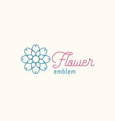 flower store linear emblem vector image vector image