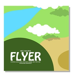 Flyers with the image of rocky terrain and forests vector image vector image