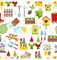 Garden tools seamless background vector