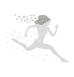 girl running women vector image vector image