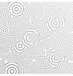 Grey abstract pattern design with rings vector