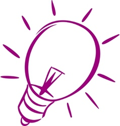 light-bulb logo vector image vector image