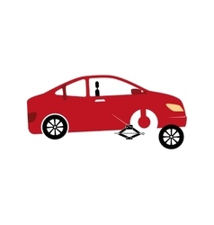 Mechanic service isolated icon vector