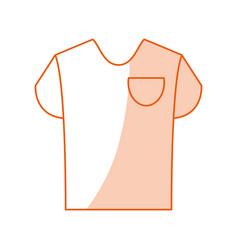 monocromatic shirt design vector image