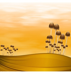 Mushroom plants vector