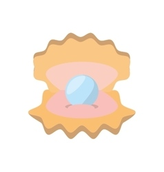oyster pearl seafood beach vector image