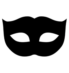 Privacy Mask flat black color icon vector image vector image