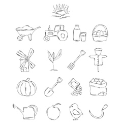 Professional collection of icons and elements A vector image vector image
