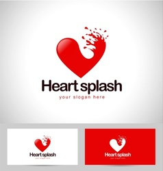 Red Heart Logo vector image vector image