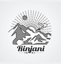 Rinjani mountain vector