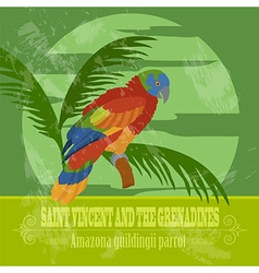 Saint Vincent and the Grenadines national symbols vector image vector image