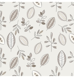 Seamless Leaf Hand Drawn Pattern vector image vector image
