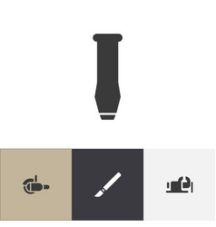 set of 4 editable instrument icons includes vector image vector image