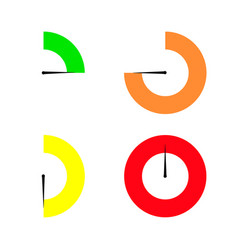 set of colored timers vector image vector image