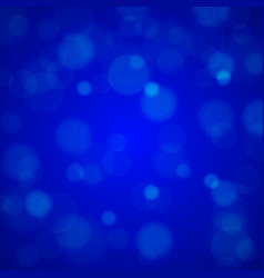 Shiny bright blue lights blurred background vector