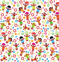 summer pattern beach vector image