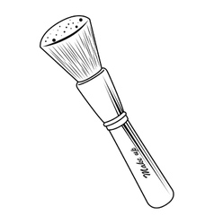 Make up brush tool isolated vector