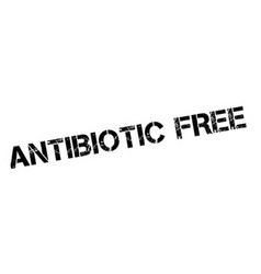 Antibiotic free rubber stamp vector