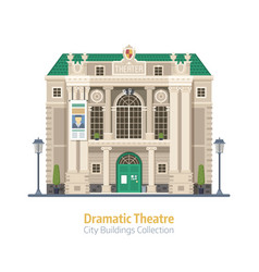 dramatic theater building vector image