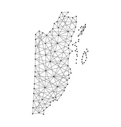Map of belize from polygonal black lines vector
