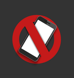 Modern sign - turn off the phone vector