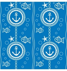Seamless pattern with a maritime theme vector