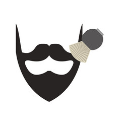 Barbershop brush with bearb vector