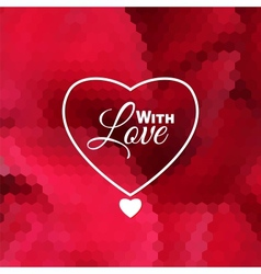 Love holiday invitation card vector image