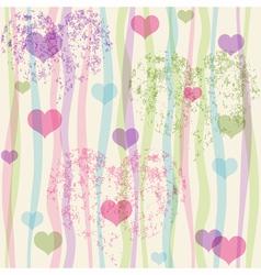 Seamless valentine pastel grunge pattern vector image