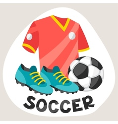 Sports background with soccer symbols vector
