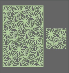 The template pattern for decorative panel1 vector