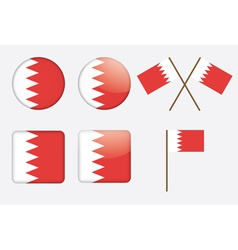 Badges with flag of bahrain vector