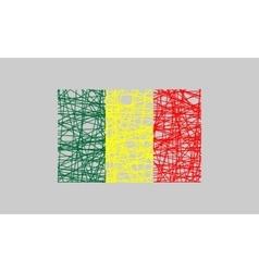 Republic of mali flag design concept vector