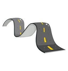 A narrow road vector image vector image