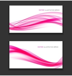 Abstract Colored Wave Card Background vector image vector image