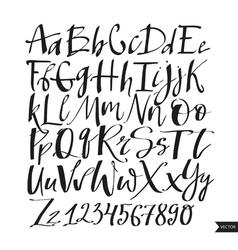 Alphabet lettersblack handwritten font drawn with vector