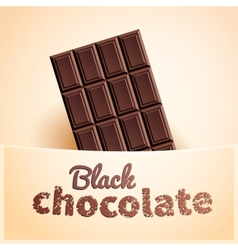 Bar of black chocolate vector image