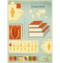 Book infographics elements vector