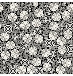 Bw concentric circles mosaic jumble vector