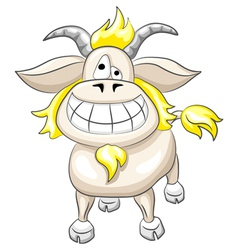cartoon funny goat vector image