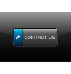 Contact Us Button vector image vector image