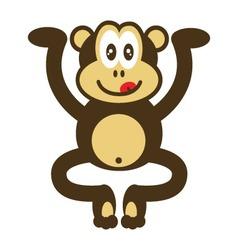 Cute monkey drawing vector