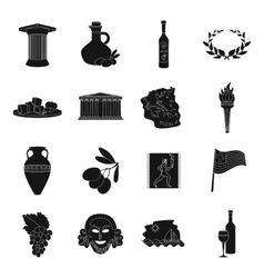 Greece set icons in black style big collection of vector