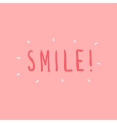 hand drawn smile graphic for vector image vector image