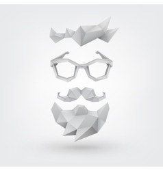 Hipster concept low poly style vector