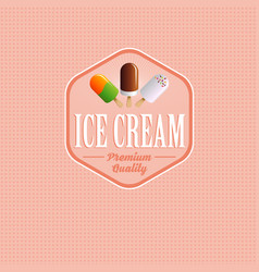ice cream logo or label vector image