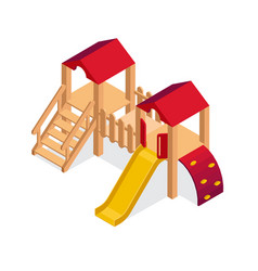 Isometric playground building element vector