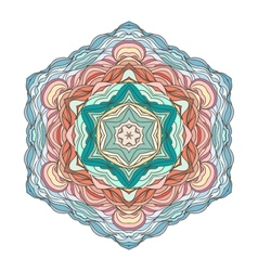 Mandala ornamental design vector image